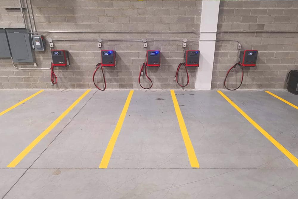 tow motor parking lines